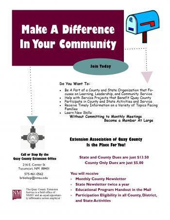 Nmsu Quay County Extension Office Home Economics