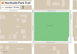 Map of Northside Park route
