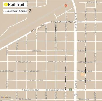 Map of Rail Trail route